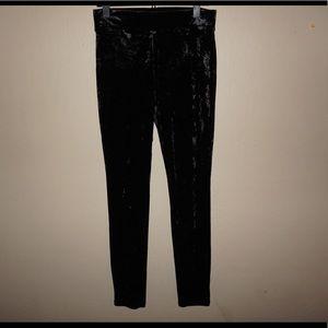 Forever 21 Black Velvet Leggings